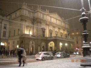Scala sotto la neve febbraio2012